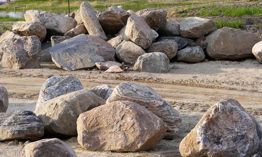 Landscaping with boulders bjorklund companies for Large landscape boulders