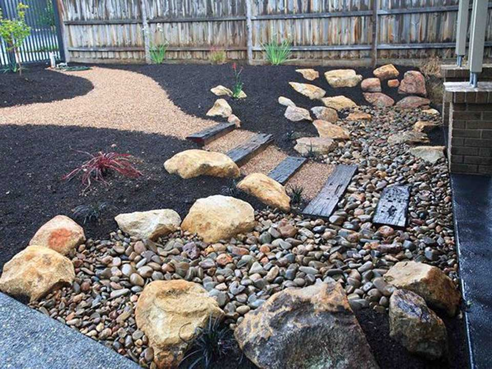 Landscaping with decorative rock bjorklund companies for Beach rocks for landscaping